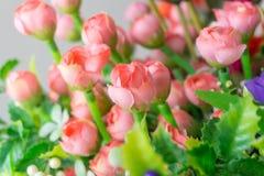 Bukett för konstgjorda blommor Arkivfoto