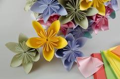 Bukett för pappers- blomma - brudbukett Arkivbilder