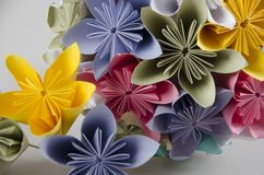 Bukett för pappers- blomma - brudbukett Royaltyfria Bilder