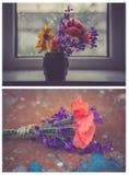Bukett från olik sort av blomman Arkivfoton