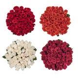 Bukett fyra av rosor arkivfoton