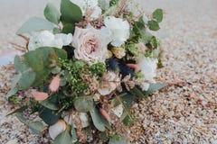 Bukett med den rosa roscloseupen Royaltyfria Bilder