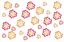 bukettbows figure seamless litet för blommamodell vektor illustrationer