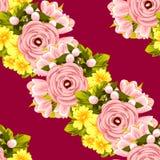 bukettbows figure seamless litet för blommamodell Arkivbilder