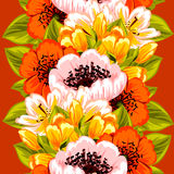 bukettbows figure seamless litet för blommamodell Arkivfoton