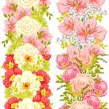 bukettbows figure seamless litet för blommamodell Arkivbild