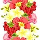 bukettbows figure seamless litet för blommamodell Royaltyfri Fotografi