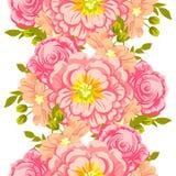 bukettbows figure seamless litet för blommamodell Royaltyfri Bild