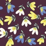 bukettbows figure seamless litet för blommamodell Hand-dragit klotter för vår vektor Royaltyfri Fotografi