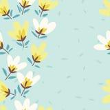 bukettbows figure seamless litet för blommamodell Hand-dragit klotter för vår vektor Royaltyfria Bilder