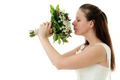 bukettbrudbröllop Royaltyfria Bilder