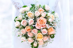bukettbrudbröllop Royaltyfri Bild