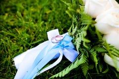 bukettcirkelbröllop Arkivbild
