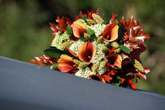 bukettdetaljbröllop arkivbild