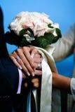 buketten blommar bröllop Arkivfoton