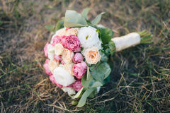 buketten blommar bröllop royaltyfri fotografi