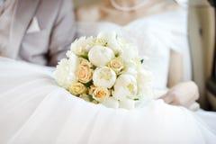 buketten blommar bröllop Fotografering för Bildbyråer