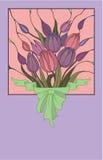 buketten blommar den rosa vektorn Arkivfoto
