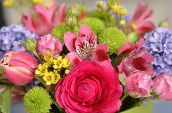 buketten blommar fjädern Royaltyfri Foto