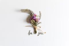buketten blommar pink Royaltyfri Bild