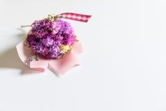 buketten blommar pink Arkivfoton