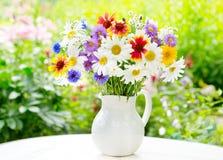 buketten blommar sommar arkivbild