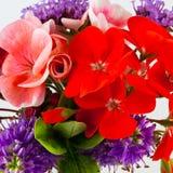 buketten blommar sommar Arkivfoto