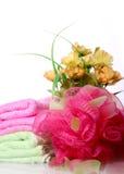 buketten blommar svampen arkivbild
