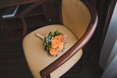 Buketten på stolen Royaltyfria Foton