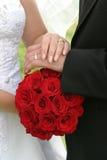buketten ringer bröllop Royaltyfri Bild