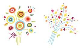 buketter blommar två Royaltyfri Fotografi