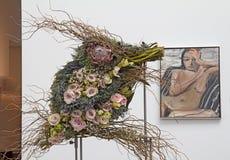 Buketter till den konstutställningen 2014 Fotografering för Bildbyråer