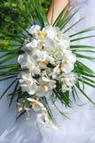 bukettorchidbröllop Arkivbild