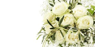 bukettro som gifta sig white royaltyfria bilder