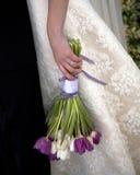 buketttulpanbröllop Fotografering för Bildbyråer