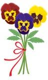 bukettviolets stock illustrationer
