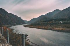 Bukhangang-Fluss, Südkorea Lizenzfreie Stockfotografie