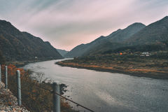 Bukhangang River, South Korea Royalty Free Stock Photography