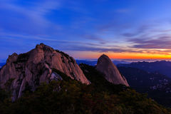 Bukhansan国家公园山 免版税图库摄影