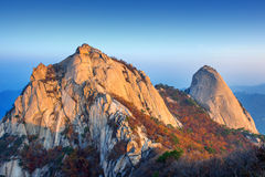 Bukhansan mountains in autumn,in Korea. stock image