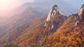 Bukhansan mountains in autumn in Korea. stock photography