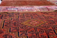 Bukhara Carpets Royalty Free Stock Photography