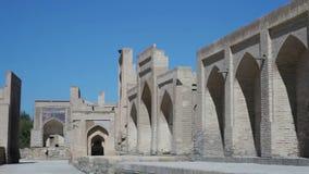 Bukhara, Uzbekistán, Chor-Bakr la necrópolis que está en el acuerdo de Cumitang en el suburbio de Bukhara almacen de metraje de vídeo