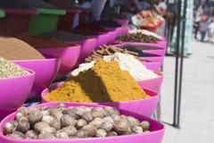 BUKHARA UZBEKISTAN, MAJ, - 25, 2018: Jedwab i pikantność festiwal 2018 Tradycyjny azjatykci pikantność bazar w Bukhara, Uzbekista Fotografia Royalty Free
