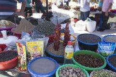 BUKHARA UZBEKISTAN, MAJ, - 25, 2018: Jedwab i pikantność festiwal 2018 Tradycyjny azjatykci pikantność bazar w Bukhara, Uzbekista Fotografia Stock