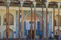 BUKHARA, UZBEKISTAN - March 19, 2015: Bolo Khauz old mosque with Stock Image