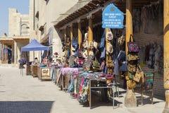 Bukhara, Uzbekistan - March 13, 2019: Uzbek National Souvenirs and Gifts shop at streets of ancient Bukhara stock image