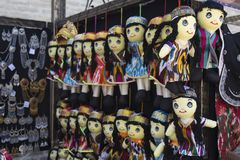 BUKHARA, UZBEKISTAN - MAY 25, 2018: Silk and Spices Festival 2018. Souvenirs shop in Bukhara, Uzbekistan. stock photography