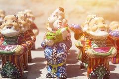 BUKHARA, UZBEKISTAN - MAY 25, 2018: Silk and Spices Festival 2018. Souvenirs shop in Bukhara, Uzbekistan. stock image