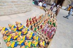 BUKHARA, UZBEKISTAN - MAY 25, 2018: Silk and Spices Festival 2018. Souvenirs shop in Bukhara, Uzbekistan. royalty free stock photos